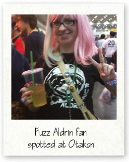 Fuzz Aldrin fan at Otakon
