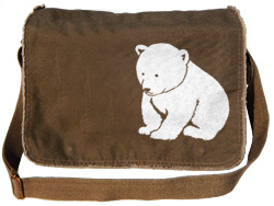 Polar Bear Cub Cute Messenger Bag
