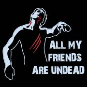 All My Friends Are Undead Emo T-Shirt