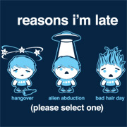 Reasons I'm Late Emo T-Shirt