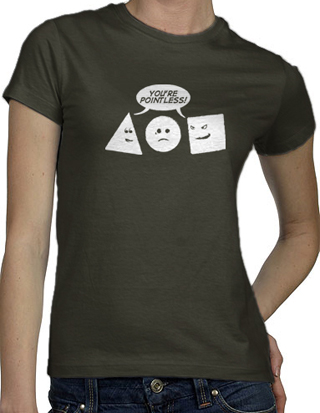 Ex-Boyfriend  	 :: You're Pointless T-Shirt :  indie math nerdy nerd geek geeky geometry tshirts cute