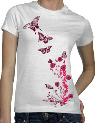 Ex-Boyfriend  	 :: Butterfly Garden T-Shirt :  indie tshirts cute illustrations