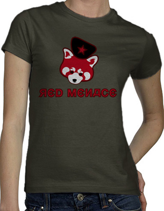 Ex-Boyfriend  	 :: The Red Menace T-Shirt :  indie red panda red menace russian russia communist communism tshirts cute