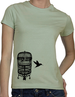 Ex-Boyfriend  	 :: The Bird Cage Escape T-Shirt :  indie tshirts cute emo