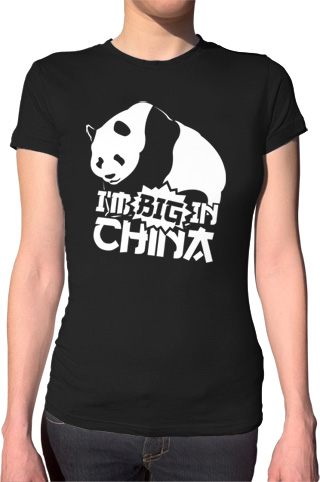Ex-Boyfriend  	 :: I'm Big In China Panda T-Shirt :  indie panda china tshirts cute
