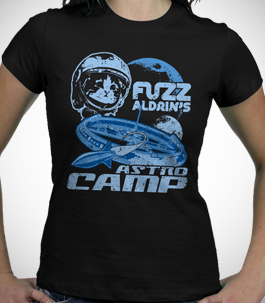 Ladies Fuzz Aldrin Astro Camp T-Shirt