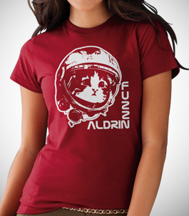 Fuzz Aldrin Ladies Organic T-Shirt