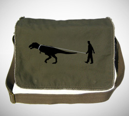 Man Walking Dinosaur  Messenger Bag